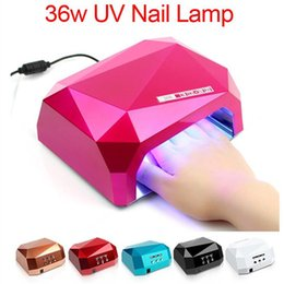 Wholesale Curing Lamps Nails - 2016 Fashion CCFL 36W LED Light Diamond Shaped Best Curing Nail Dryer Nail Art Lamp Care Machine for UV Gel Nail Polish