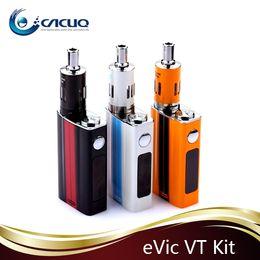 Wholesale Ego Update - Original Joyetech Evic vtwo Kit updated evic vt kit E Cigarette With 60w evic vtwo battery ego one mega vt atomizer