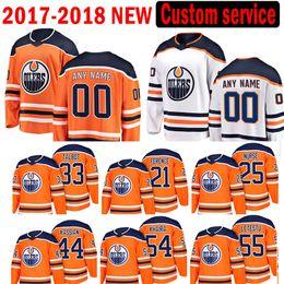 Wholesale Nurse Xl - Custom 2018 Edmonton Oilers 33 Cam Talbot 21 Andrew Ference Jersey 54 Jujhar Khaira 55 Mark Letestu 44 Zack Kassian Darnell Nurse Jeseys