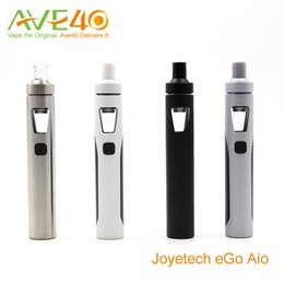 Wholesale Electronic Cigarette Black Ego Kit - Anthenic Joyetech eGo Aio Electronic Cigarettes Starter Kit With BF ss316 1500mAh ego aio Battery 2ml Capacity Top Air Flow Never Leak