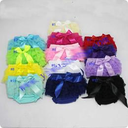 2020 cintas arcos para las faldas 13 estilo Baby Cotton Bloomers Girls Ruffle Lace TUTU falda Shorts con cinta Bow Kids pañal cubierta PP corto envío gratis E668 rebajas cintas arcos para las faldas