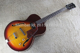 Wholesale Semi Hollow Body Guitar Blue - Free shipping 2016 Top qualitynew guitars new model non cutaway semi jazz electric guitar hollow body guitar