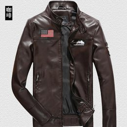Wholesale Coat Business - 2016 New Brand Motorcycle Leather Jackets Men Autumn and Winter Leather Clothing Men Leather Jackets Male Business casual Coats