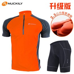 Wholesale Nuckily Cycling - Wholesale-NUCKILY summer minimalist style short sleeve cycling jersey suit lovers wicking