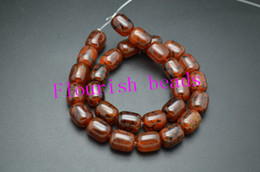 Wholesale Dragon Vein Agates - Red Dragon Veins Agate Beads Barrel Tube Shape High Quality Around 14MM 18MM Fit Bracelet Necklace Jewelry Making 5Strand Lot