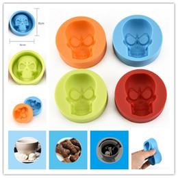 bohren führen Rabatt DIY Multifunktions Schimmel Mooncake Mold machen Soap Jelly Mould handgemachte Silikon Skull Creative 4 Farben CYF84