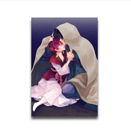 Wholesale Hot Girls Posters - hot anime Akatsuki no Yona characters Yona & Son Hak Custom painting The girl standing in the blush of dawn poster 11-15