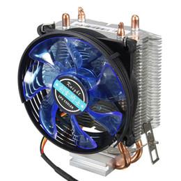 Wholesale Intel Am3 - Wholesale- 95x95x25mm LED Cooler Cpu Fan Heatsink Copper for Intel LGA775 1156 1155 for AMD AM2 AM2+ AM3