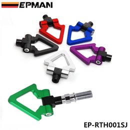Wholesale Car Tow Hook Jdm - EPMAN Billet Aluminum Front Rear JDM Japanese Car Auto Triangle Ring Trailer Tow Hook Kit For Honda Toyota EP-RTH001SJ
