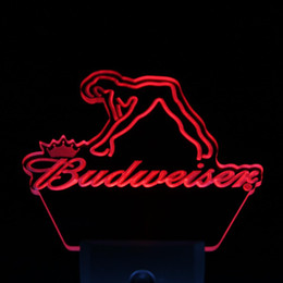 Wholesale Budweiser Led Sign - Wholesale-ws0039 Budweiser Exotic Dancer Stripper Bar Day  Night Sensor Led Night Light Sign