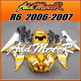Wholesale Yamaha R6 Gold - In Stock Addmotor Injection Mold Fairing For Yamaha YZF-R6 YZF R6 2006 2007 06 07 Gold Y6657+5 Free Gifts