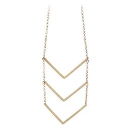 Wholesale Costume Jewelry Long Necklaces - Fashion Jewellery Minimalist Style Gold Color Arrow Shape Long Pendant Necklace Wholesale Costume Women's Jewelry Bijoux