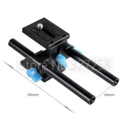 Wholesale Dslr 15mm Rail Support - Free shipping 15mm Rail Rod Support System Baseplate Mount for canon DSLR Follow Focus Rig 5D2 5D 5D3 7D