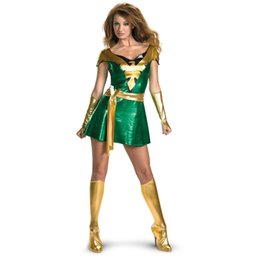 Wholesale Male Leather Costume - Jean Grey Phoenix Costumes Cosplay Party Zentai Suits Artificial Leather Fabric Cheaper Theme Costumes Fictional Character XCC53