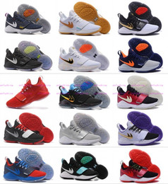 Wholesale Cheap Home Fabric - 2017 Top quality Paul George PG1 Shining Ferocity Men's Basketball Shoes for Cheap Sale PG 1 Los Angeles Home Sports Sneakers Size 40-46