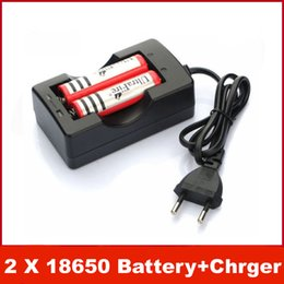 Wholesale 2x Eu - NEW 2X Ultrafire 18650 3.7v 3000mAh Li-ion Lithium Rechargeable Battery + AC Charger for EU US