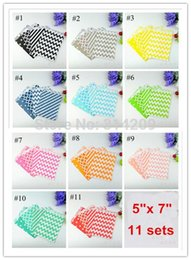 Wholesale Dots Paper - 100pcs lot, 11 Sets Assorted Chevron, Polka Dot, Striped, Honeycomb Treat Party Paper Bag for Gifts and Candy