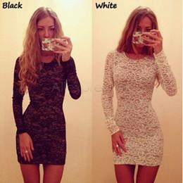 Wholesale Ladies Designer Black Lace Dress - New Designer Brand Women Dresses Candy Color Elegant Lace Dress For Women Plus Size Fashion Lady Winter Dresses