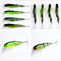 Wholesale Big Bass Bait - New Bright 3 segments Crankbait Fishing Lure Hooks 14g 10.5cm Big game saltwater bass plastic hard bait with 3 section