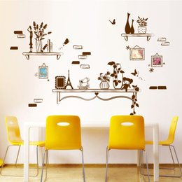 Wholesale Abstract Background Wallpaper - Well-proportioned Picture Frames Wall Art Decal Sticker Living Room Background Wall Sticker Decor DIY Home Decoration Wallpaper