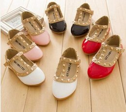Wholesale Korean Red Black Sandal - Free Shipping 2016 Children Casual Shoes Leather Children Korean Fashion Sandals Hot Sale Sneakers Fashion Sports Shoes