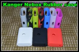 Новый силиконовый чехол силиконовый чехол сумка красочные резиновые рукава защитный чехол силикагель кожи для nebox ТС 60 Вт vape против subox от Поставщики шкуры субокса