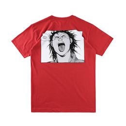 Wholesale Cool Men S - Box logo Anime Hip Hop Akira Pill Tee Skateboard Cool T-shirt Men Women Cotton Casual Cartoon T-Shirt