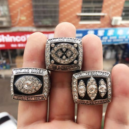 Wholesale Alloy Replicas - 3pcs set 1976 1980 1983 Oakland Raider world championship rings replica solid ring drop shipping AAA+