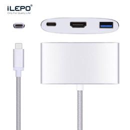 Canada USB 3.1 Type C vers HDMI USB-C Adaptateur Multiport Numérique 4K Femelle 3.0 HUB USB-C Chargeur OTG pour Macbook Projecteur Offre