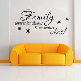 Wholesale Room Decals For Walls - No matter what, family for ever for always wall quote decor stickers living room home wall decals