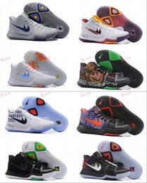 Wholesale Race Racing Games - 2017 New Arrival Kyrie Irving 3 Signature Game Basketball Shoes for Top Quality Mens Sports Training Sneakers Kyrie Irving boots 3s III BHM