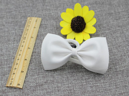 Wholesale Boys White Silk Tie - Cheap solid polyeter children baby boy bow ties for baby show children baby boy bow ties