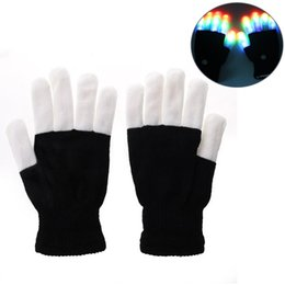 Wholesale Mitten Wear - Outdoor Camping Hiking Night Safety LED Light Gloves Fhishing Cycling Flashing Glow Mitten For Rave Party Disco Gift Handing Wearing Glove