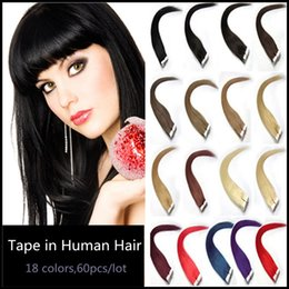 Wholesale Strong Pu Weft Tape - Silky Straight Tape In Human Hair Extensions,Seamless Skin Weft PU Tape-in Brazilian Virgin Hair,Thin and Strong Hand Tied Tape on Hairpiece