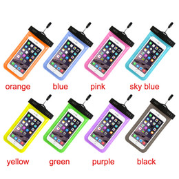 Wholesale Ipx8 Waterproof Case - Phone Neck Pouch PVC Case Underwater Bag Waterproof IPX8 Swim Diving Covers For iphone 6 4 5S Galaxy S6 Note 4 DHL SCA052