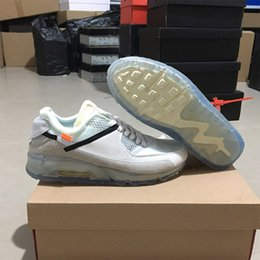 Wholesale Rubber Ice - New Arrival Air Cushion 90 Ice Sports Running Shoes for Women Men Oregon USA Casual Sneakers Size 40-46 Free Shipping