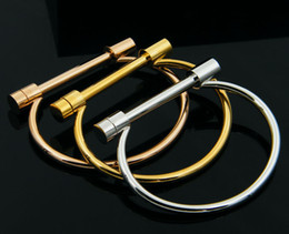 браслет мода сережкой винт браслет манжеты розовое золото браслет из нержавеющей стали браслеты браслеты для женщин любят браслет оптом от