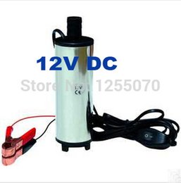 Wholesale 12v Transfer Pump - 2014 New 12V DC Diesel Fuel Water Oil Car Camping Fishing Submersible Transfer Pump #11 SV000324 order<$18no track