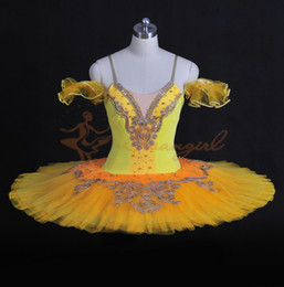 Wholesale Dance Tutus For Adults - Free Shipping.Classical Ballet Tutu Professional Dance Costumes For Concert Adult Yellow Tutus Skirt 12 Layers BT8965