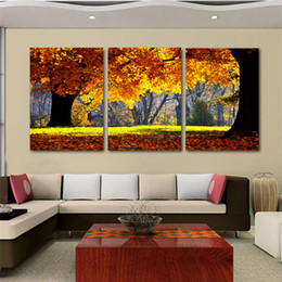 Wholesale Cheap Canvases For Painting - Nature Canvas Art Painting Scenery Pattern For Living Room Wall Art Canvas Art Cheap Chinese Art Painting 3 Pieces New Arrival