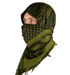Wholesale Head Scarf Shawl - Mato & Hash Military Windproof Keffiyeh Scarf Ring Scarf Shemagh Head Warp Desert Scarves Neck Tactical 100% Cotton Wholesale DHL 214