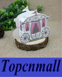 "Wholesale Cinderella Carriage Candy Boxes - ""Enchanted Carriage"" Fairytale Themed Favor Box Wedding Boxes Cinderella Pumpkin Carriage Candy Boxes TPML-0349"