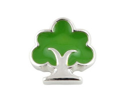 Wholesale Gifts Family Tree - 20PCS lot Green Family Tree Alloy Floating Locket Charms Fit For DIY Magnetic Glass Living Memory Locket Best Gift
