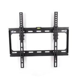 Wholesale Wall Tv Bracket - FLEXIMOUNTS LCD LED Plasma Flat Tilt TV Wall Mount Bracket Low Profile Fit for 23 26 32 37 40 42 47 50 55 TV Size w  Bubble Level T012