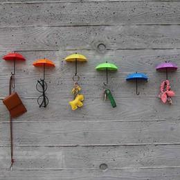 perno dell'ombrello all'ingrosso Sconti All'ingrosso-2017 nuovo 3pcs colorato ombrello ganci a muro chiave porta pin per capelli organizzatore decorativo brand new ombrello ganci da parete CHIRSMAS
