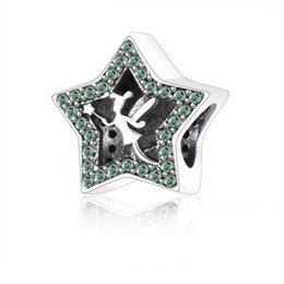 Wholesale Pandora Car - 100% 925 Sterling Silver dad baby car Beads Tinker Bell Star Charms with CZ Fits Pandora Bracelet enamel football bead cat animals charm