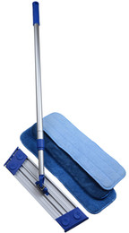 Wholesale Telescopic Cover - Sinland Microfiber Dust Mop Lightweight Rotating Mop Telescoping Aluminum Handle with 3 Free Microfiber Mop Pads