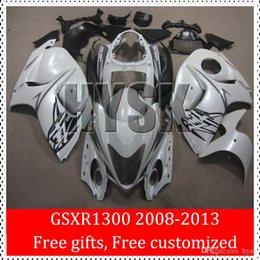 Wholesale Gsxr Abs Motorcycle Fairing - Motorcycle Fairing Kits For 08 09 10 11 12 13 Suzuki GSX-R1300 2008 2009 2010 2011 2012 2013 GSXR1300 Hayabusa GSXR 1300 White Fairings