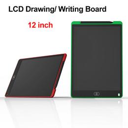 Zeichenkissen für kinder online-LCD Schreibplatte Digital Portable 12 Zoll Zeichnung Malerei Board Handschrift Pads Grafik Elektronische Tablet für Erwachsene Kinder Kinder