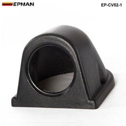 suporte de medidores de carro Desconto Tansky - Universal Carros / Veículo Black Meter / Gauge Cover 1 GAUGE TRIPLE GAUGE PANEL 52MM HOLDER COVER TK-CV52-1